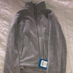 Columbia Gray Full Zip fleece jacket. Size small.